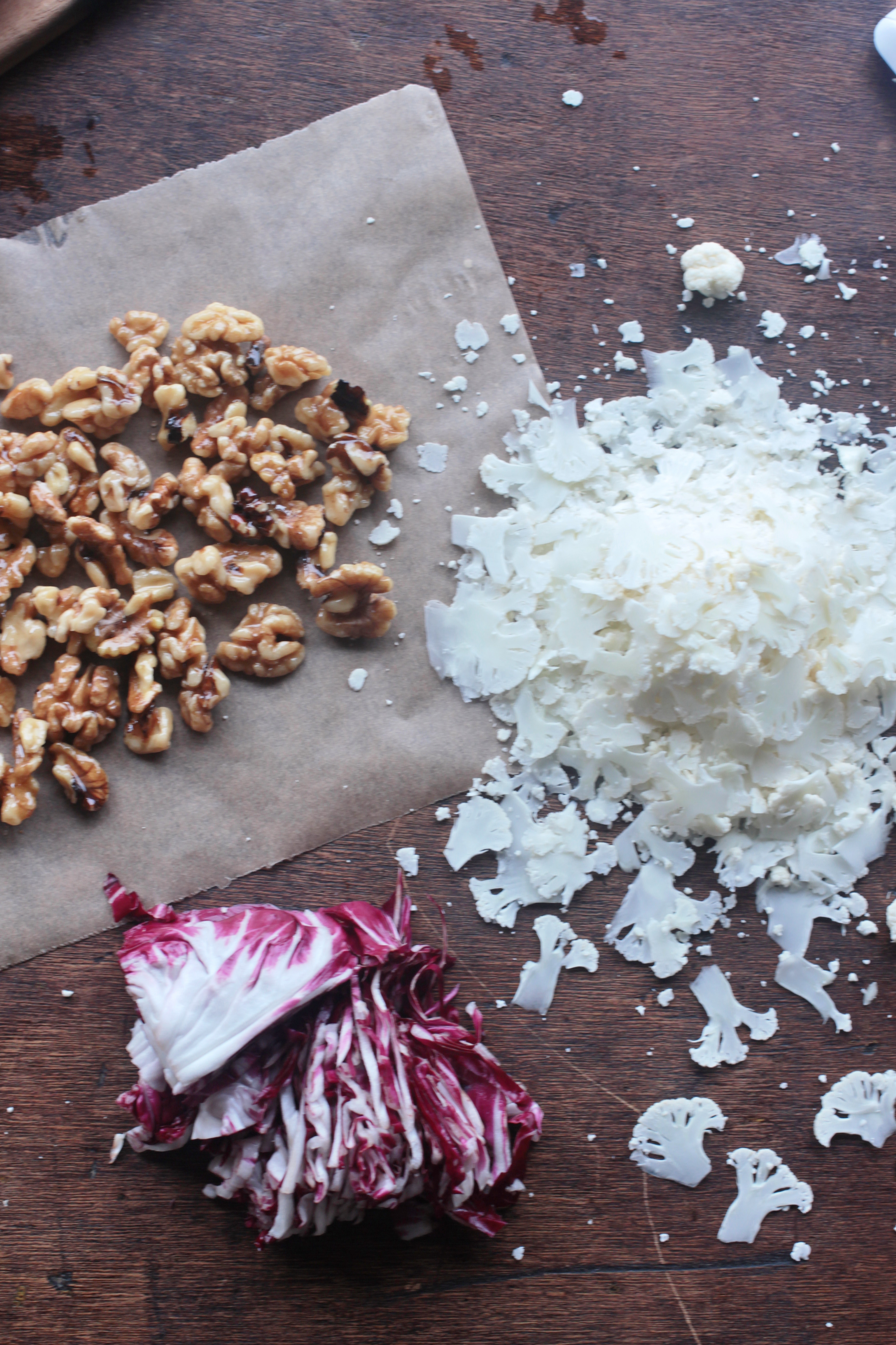 cauliflower and radicchio salad shaved cauliflower and radicchio salad ...