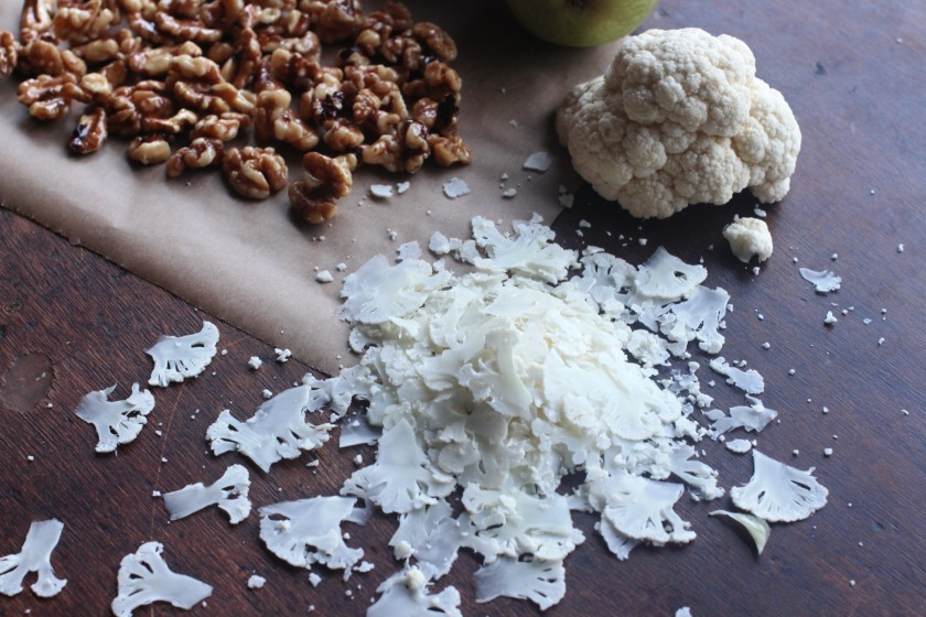 Shaved Cauliflower & Radicchio Salad with Honey-Glazed-Walnuts | Thyme ...